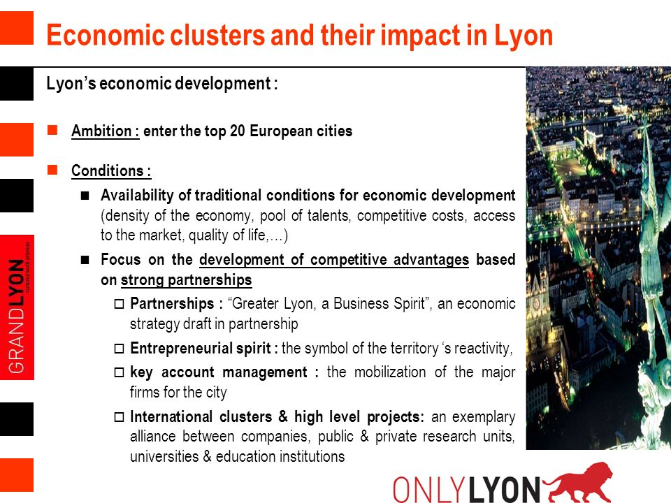Economic clusters and their impact in Lyon