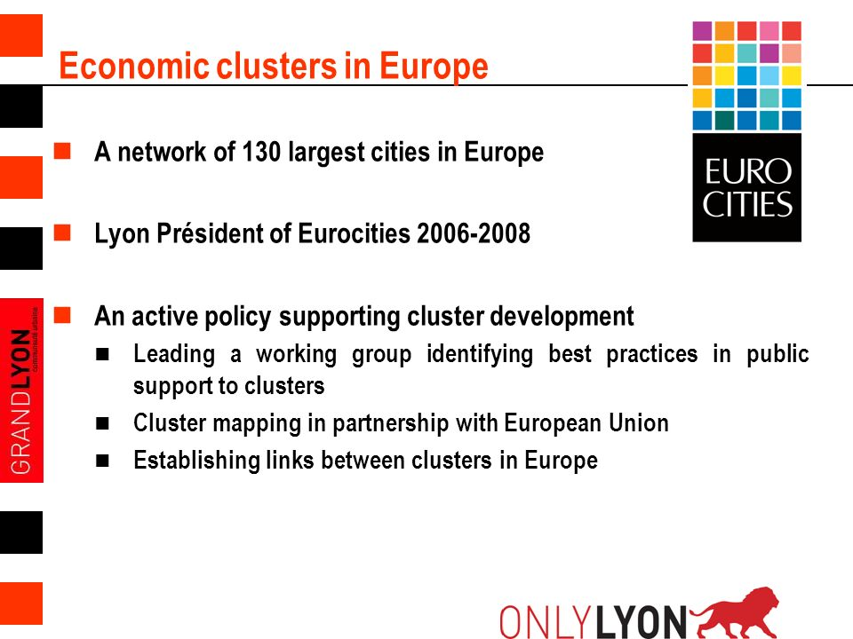 Economic clusters in Europe