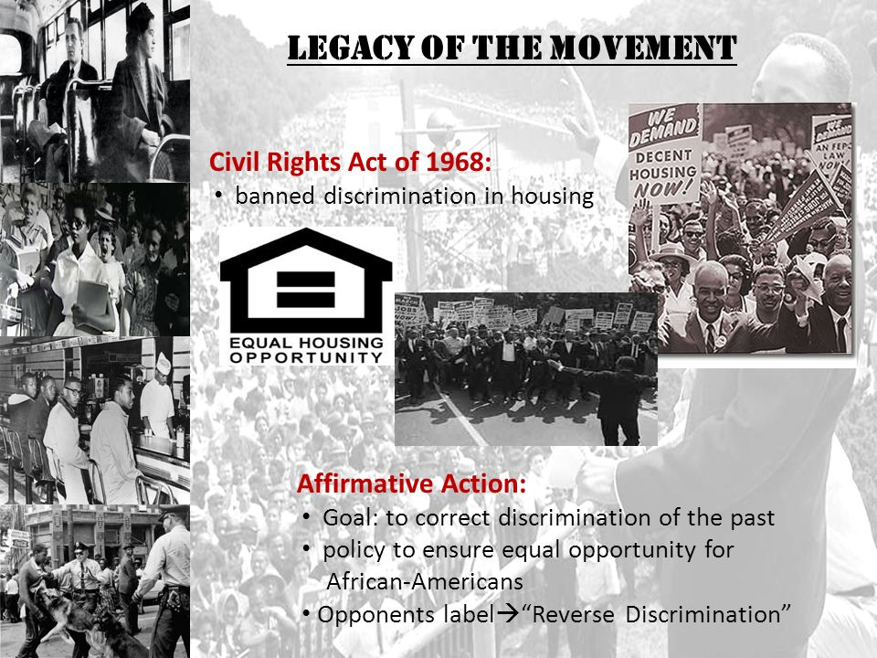 goals of the civil rights movement Mission and history our mission the mission of the urban league movement is to enable african americans and other underserved urban residents to secure economic self-reliance, parity, power and civil rights.