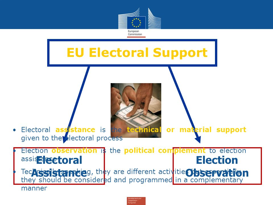 EU Electoral Support Electoral Assistance Election Observation