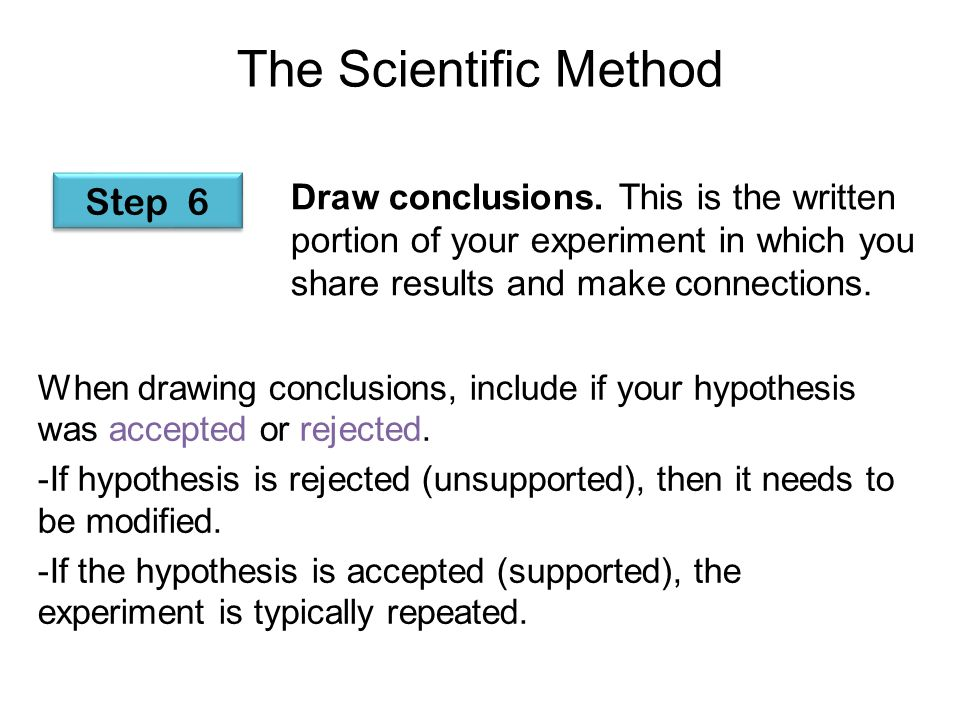 The Scientific Method ...