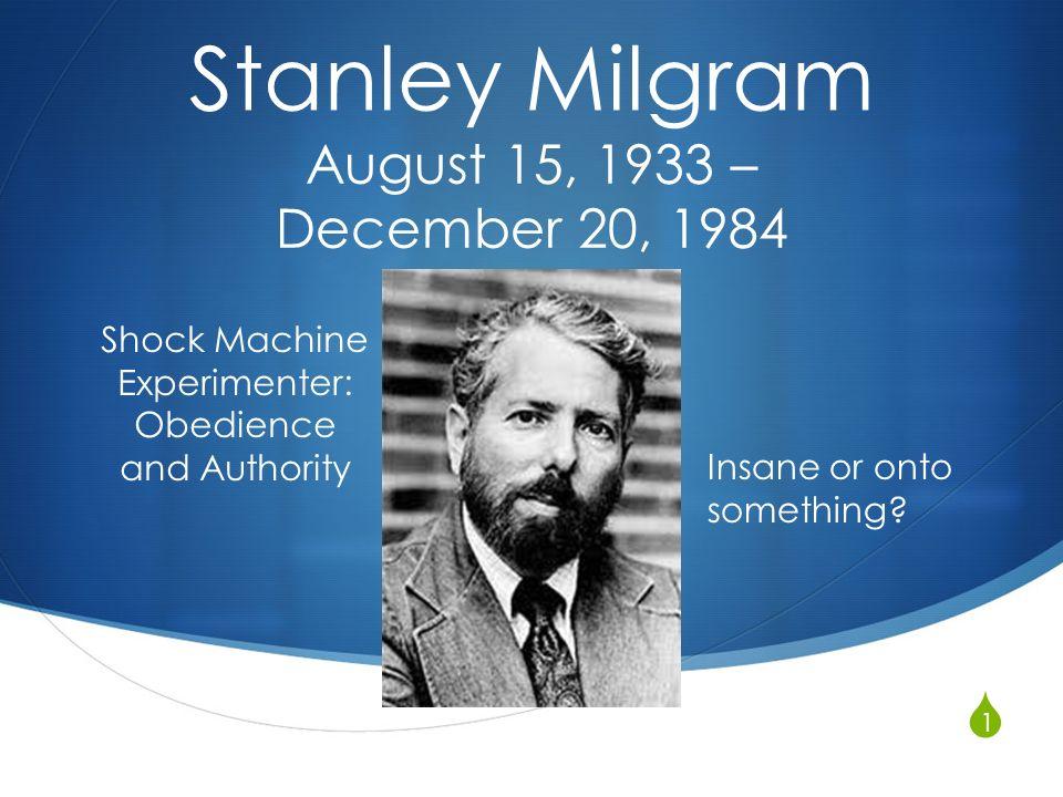experience stanley milgram