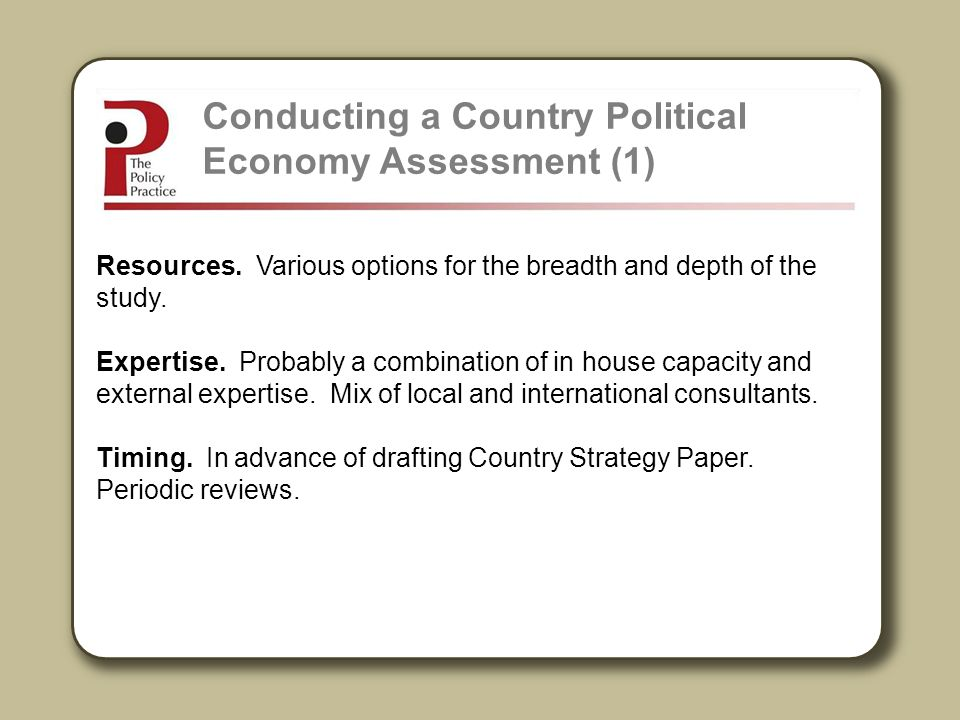 Conducting a Country Political Economy Assessment (1)