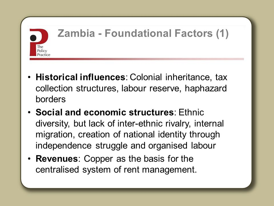 Zambia - Foundational Factors (1)