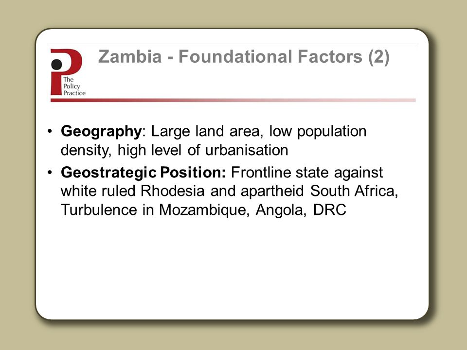 Zambia - Foundational Factors (2)