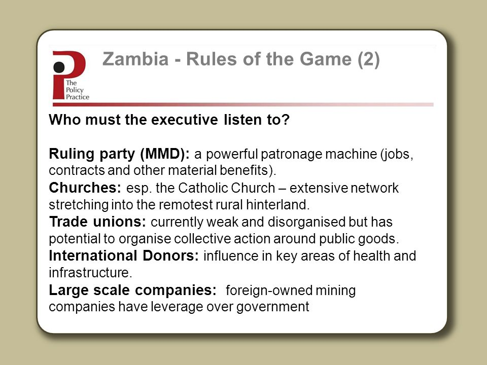 Zambia - Rules of the Game (2)