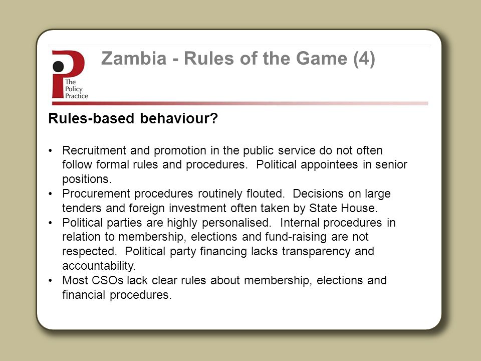 Zambia - Rules of the Game (4)