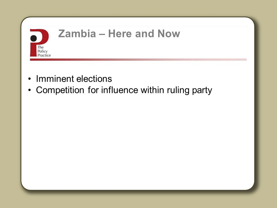 Zambia – Here and Now Imminent elections