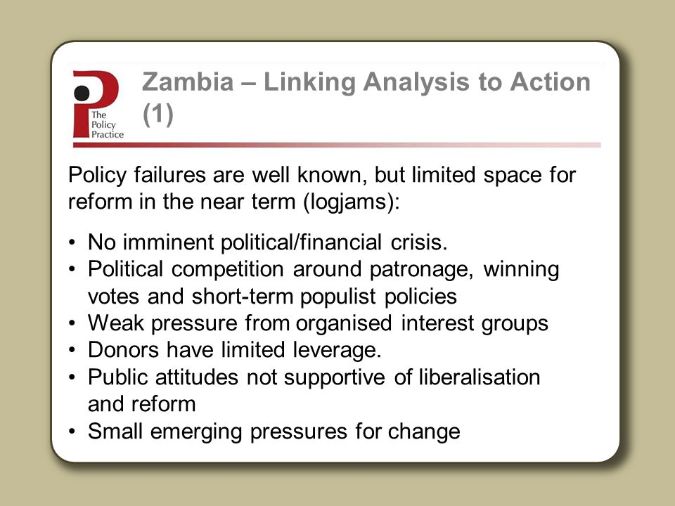 Zambia – Linking Analysis to Action (1)