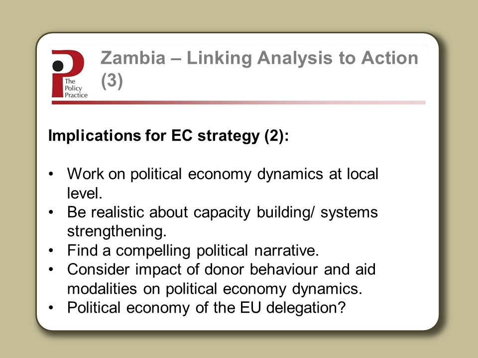 Zambia – Linking Analysis to Action (3)