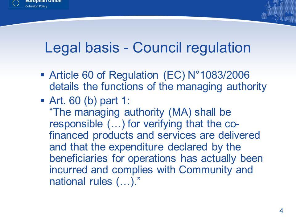 Legal basis - Council regulation
