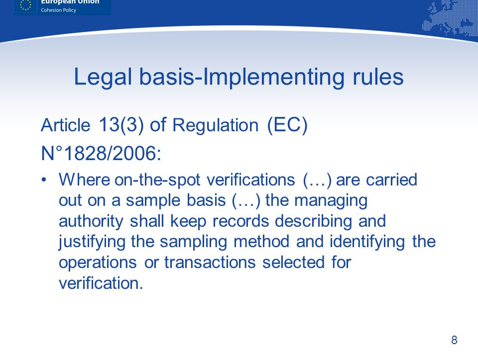 Legal basis-Implementing rules