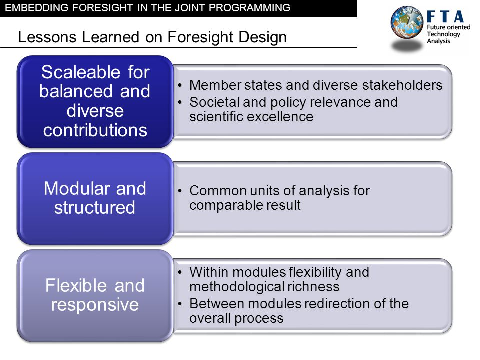 Lessons Learned on Foresight Design