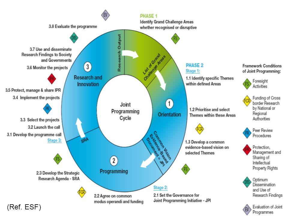 (Ref. ESF) Identify Grand challenges Define and justify JPI proposal
