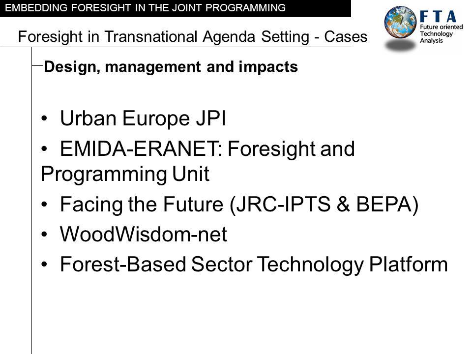 EMIDA-ERANET: Foresight and Programming Unit