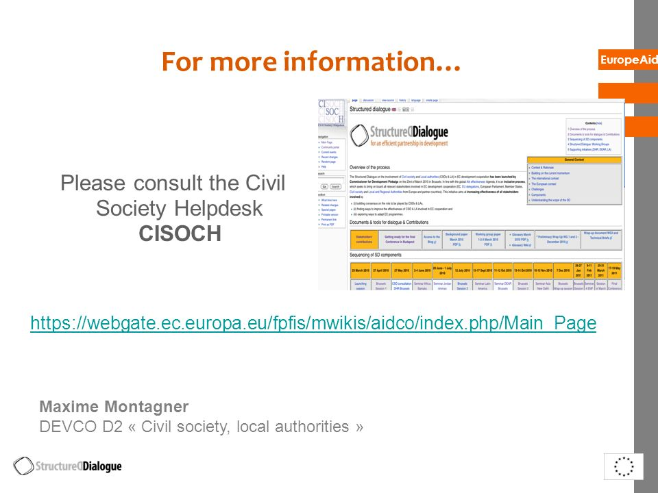 Please consult the Civil Society Helpdesk CISOCH