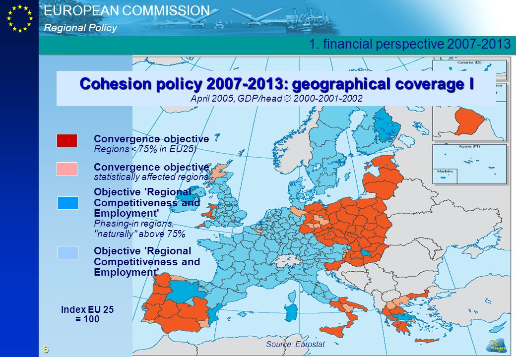Cohesion policy 2007-2013: geographical coverage I