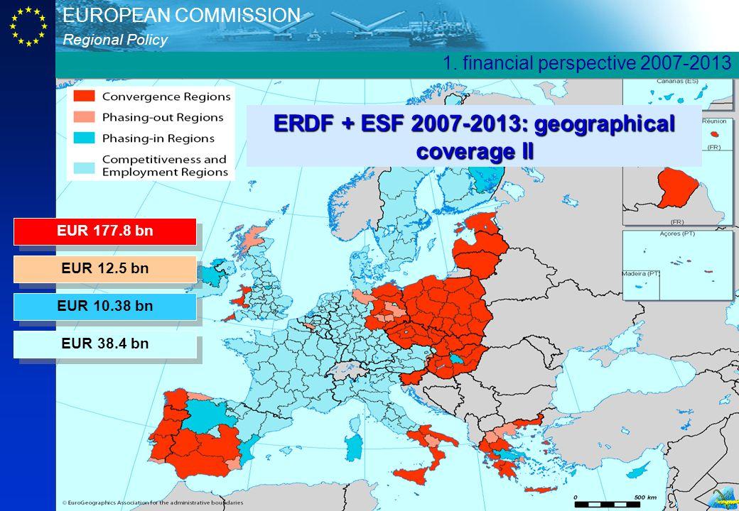 ERDF + ESF 2007-2013: geographical coverage II