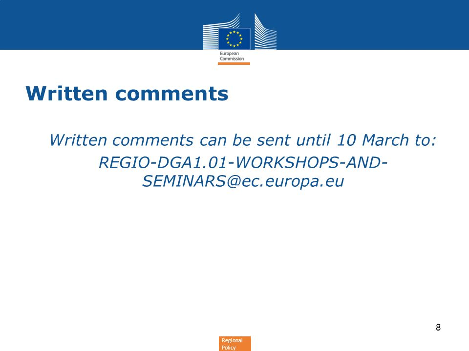 Written comments can be sent until 10 March to: