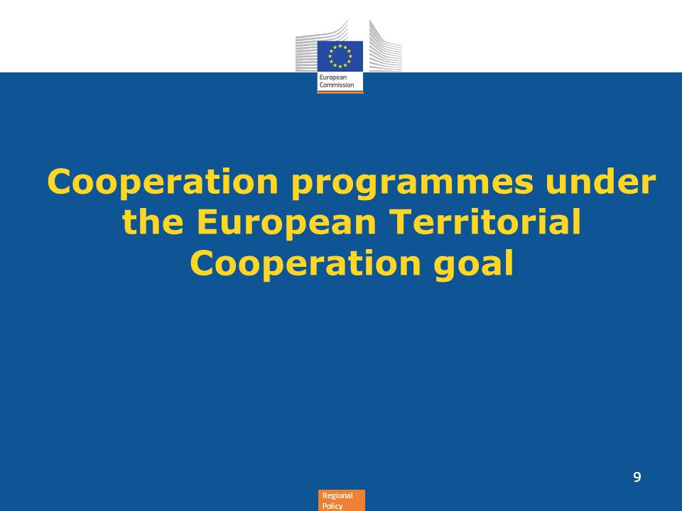 Cooperation programmes under the European Territorial Cooperation goal