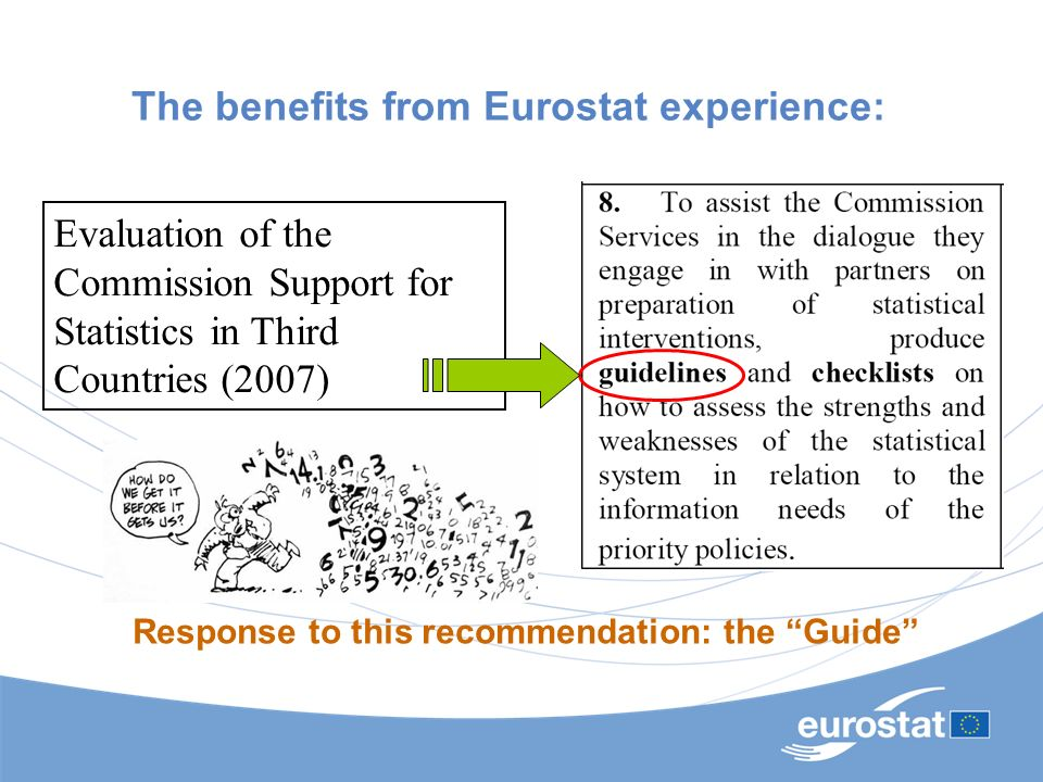 The benefits from Eurostat experience: