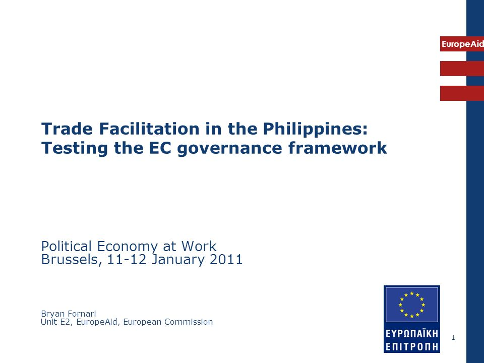 Trade Facilitation in the Philippines: Testing the EC governance framework
