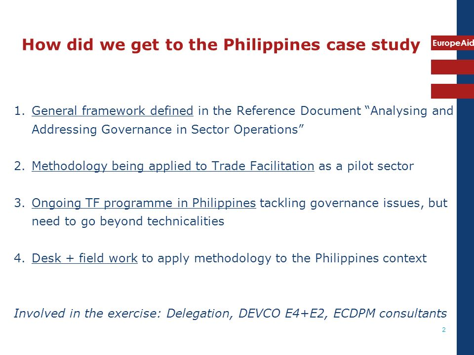 How did we get to the Philippines case study