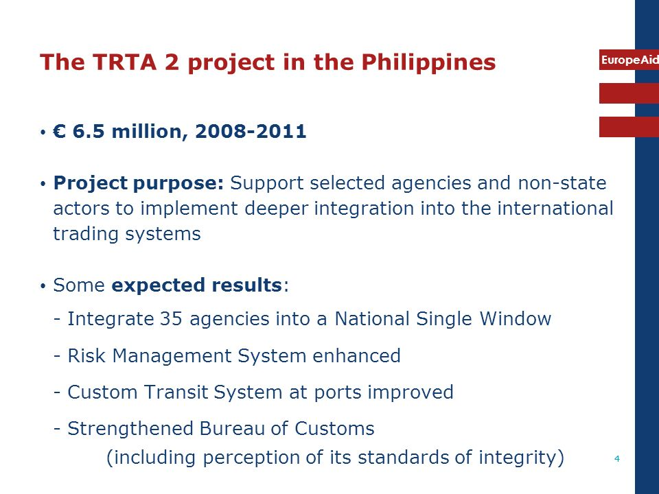 The TRTA 2 project in the Philippines