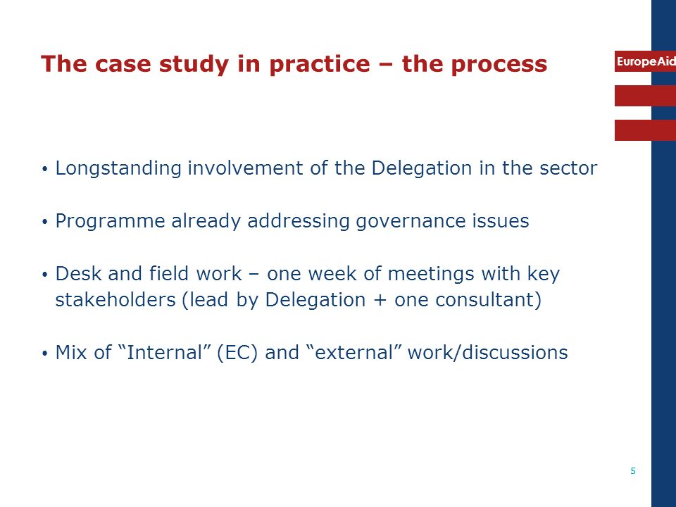 The case study in practice – the process
