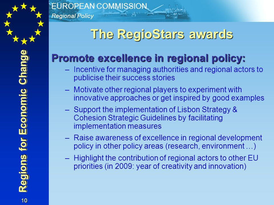 Regions for Economic Change
