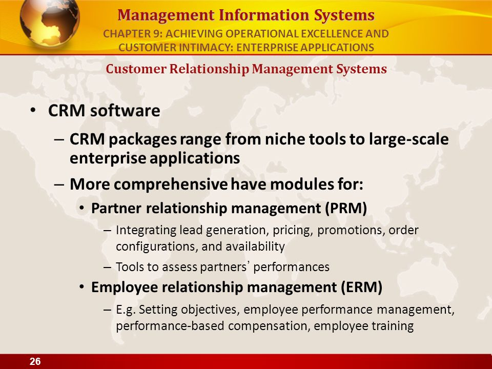 types of customer relationship management applications