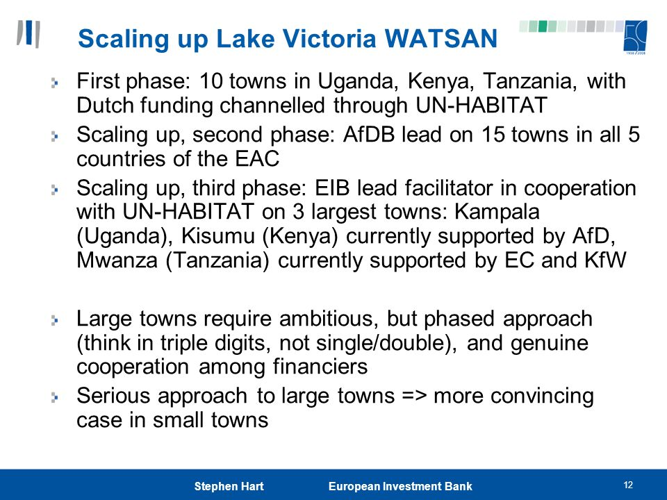 Scaling up Lake Victoria WATSAN
