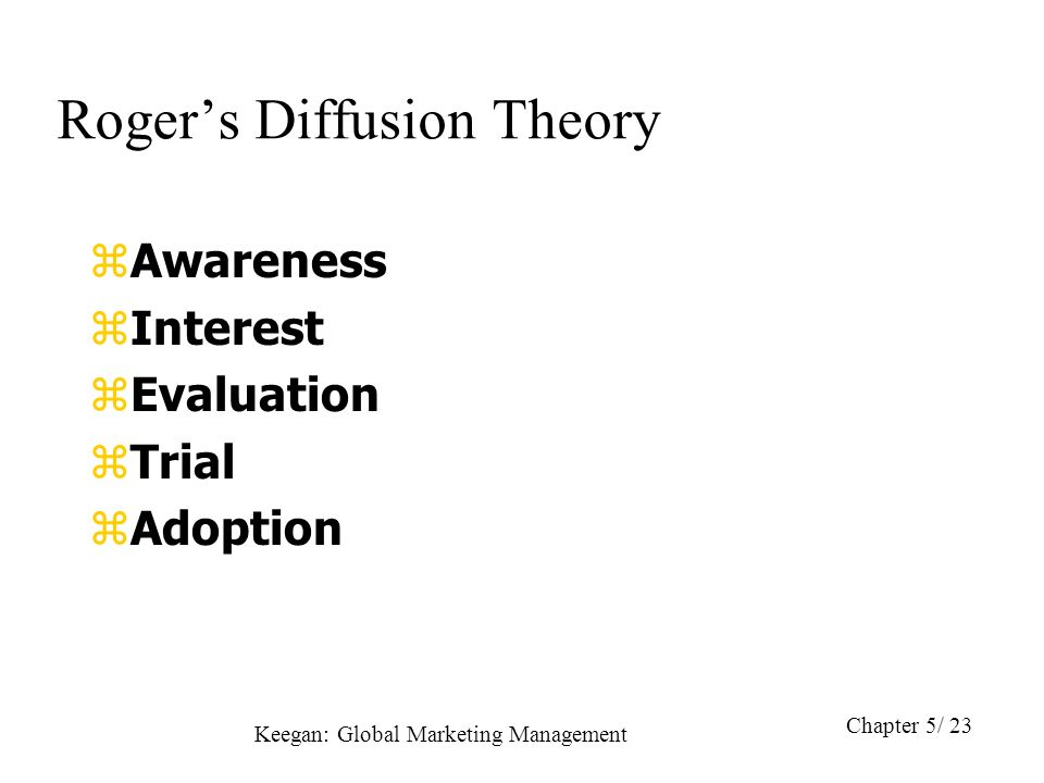 Diffusion of innovation theory for clinical change