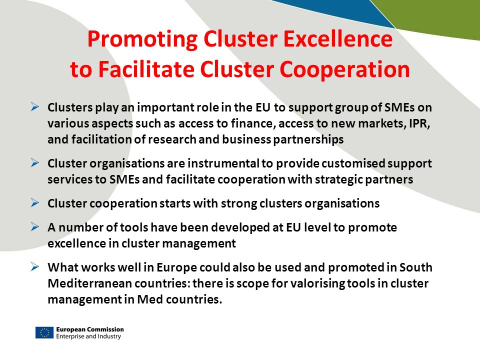 Promoting Cluster Excellence to Facilitate Cluster Cooperation