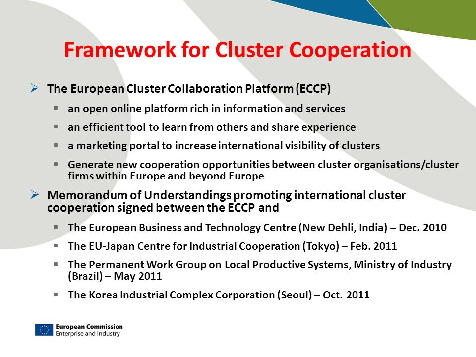 Framework for Cluster Cooperation