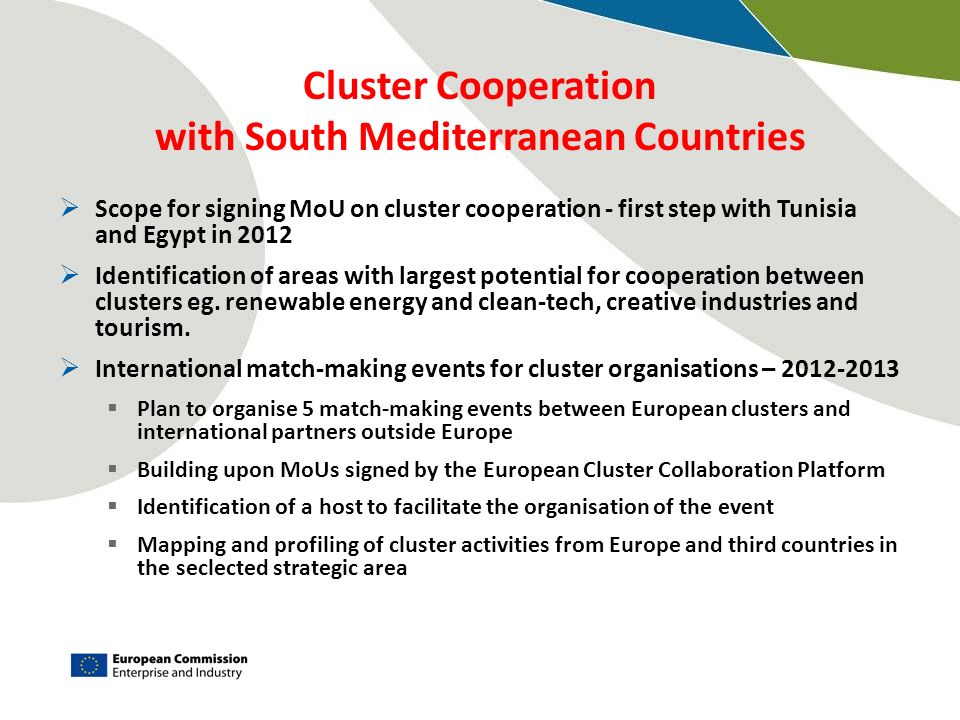 Cluster Cooperation with South Mediterranean Countries