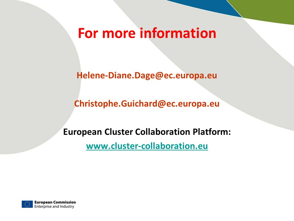European Cluster Collaboration Platform: