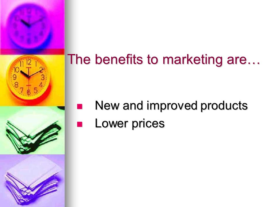 benefits of market orientation A business with a marketing orientation is focused on meeting customer needs  and demands this orientation has advantages in attracting and.