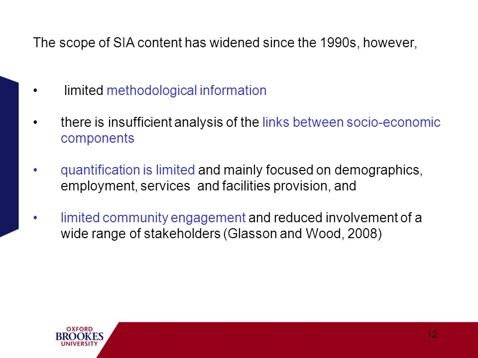 The scope of SIA content has widened since the 1990s, however,