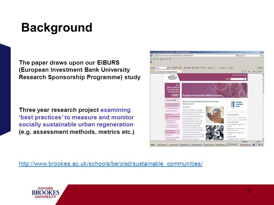 BackgroundThe paper draws upon our EIBURS (European Investment Bank University Research Sponsorship Programme) study.