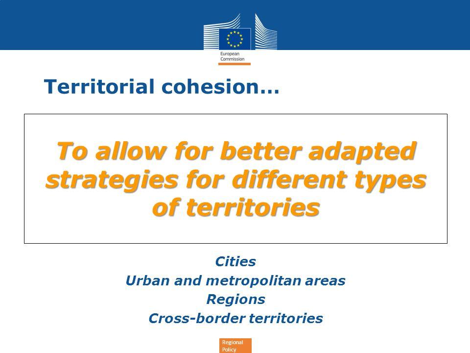 Territorial cohesion…