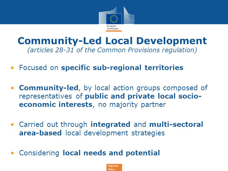 Community-Led Local Development (articles 28-31 of the Common Provisions regulation)