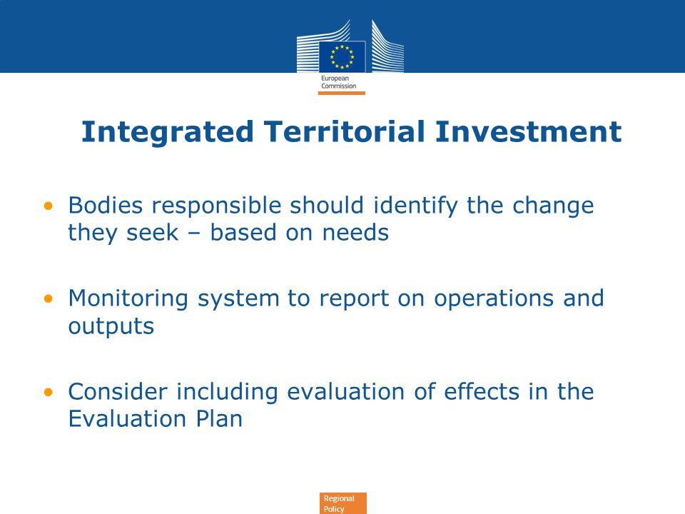 Integrated Territorial Investment