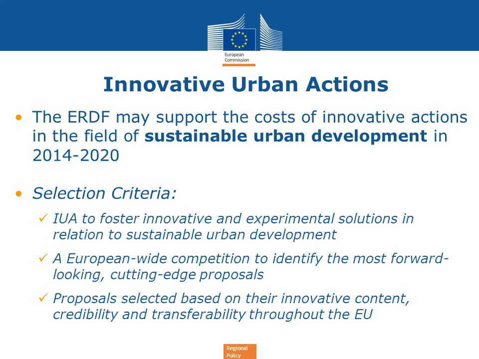 Innovative Urban Actions
