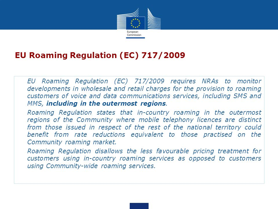 EU Roaming Regulation (EC) 717/2009