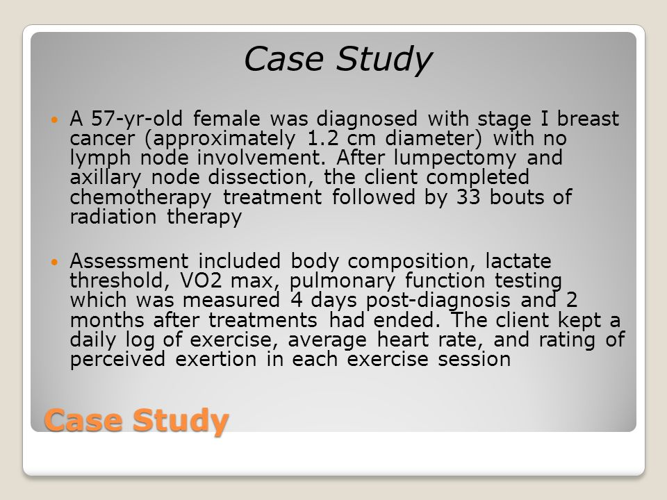 case study breast cancer treatment 52-year-old woman with colon cancer theresa wicklin gillespie,  case study (continued at top of  week adjuvant breast cancer chemotherapy.