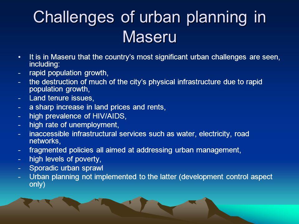 Challenges of urban planning in Maseru