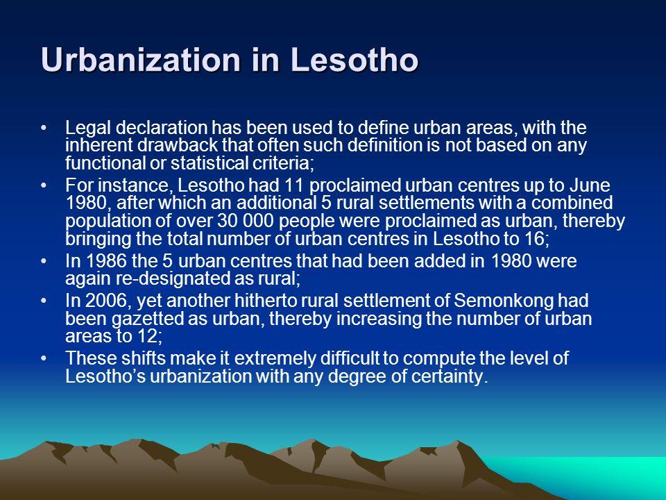 Urbanization in Lesotho