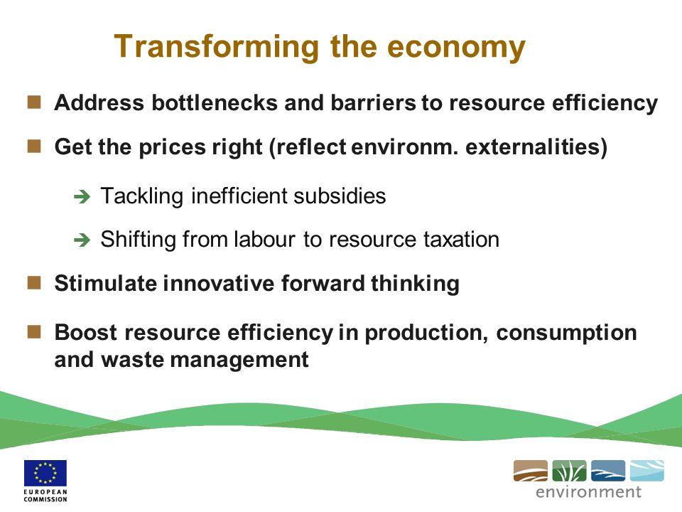 Transforming the economy
