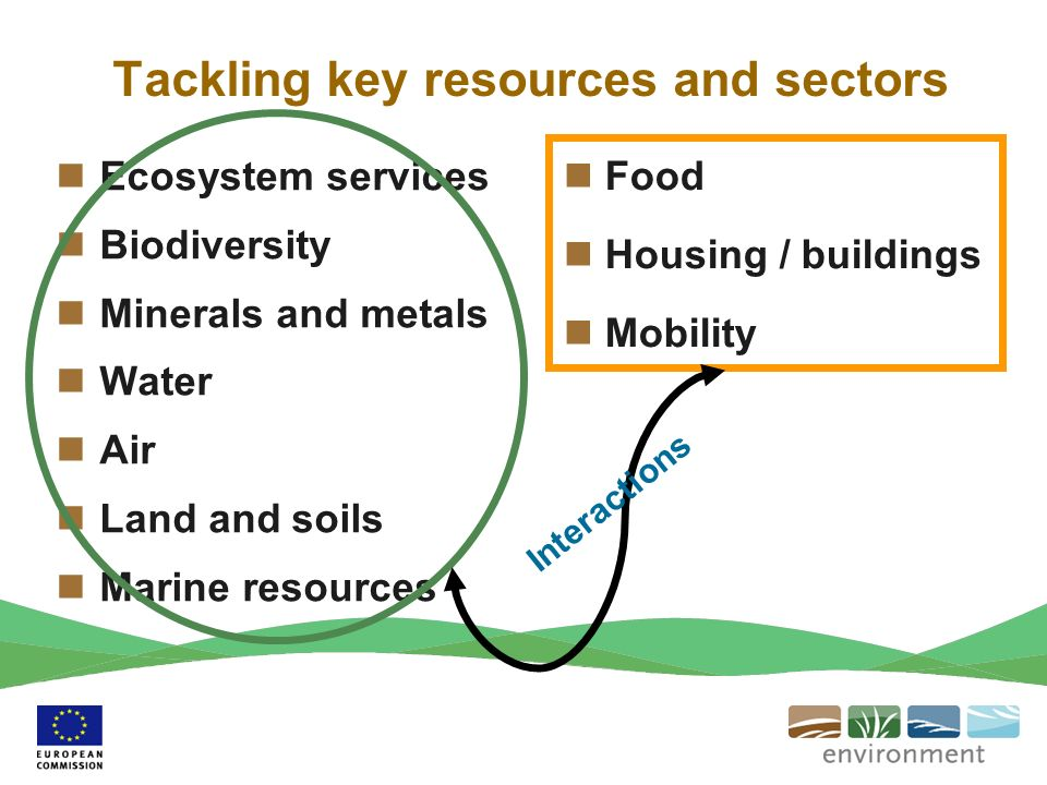 Tackling key resources and sectors